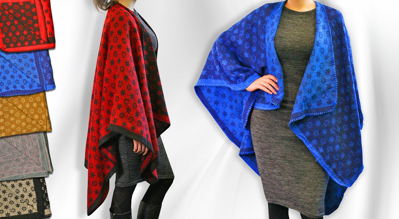 Dámske pončá v štýlových vzoroch pre milovníčky ležérnej módy!