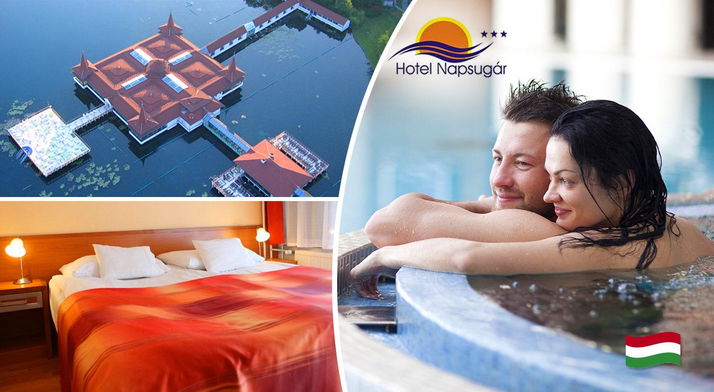 Perfektný trojdňový relax pre dvoch v maďarskom kúpeľnom meste Hevíz blízko termálneho jazera