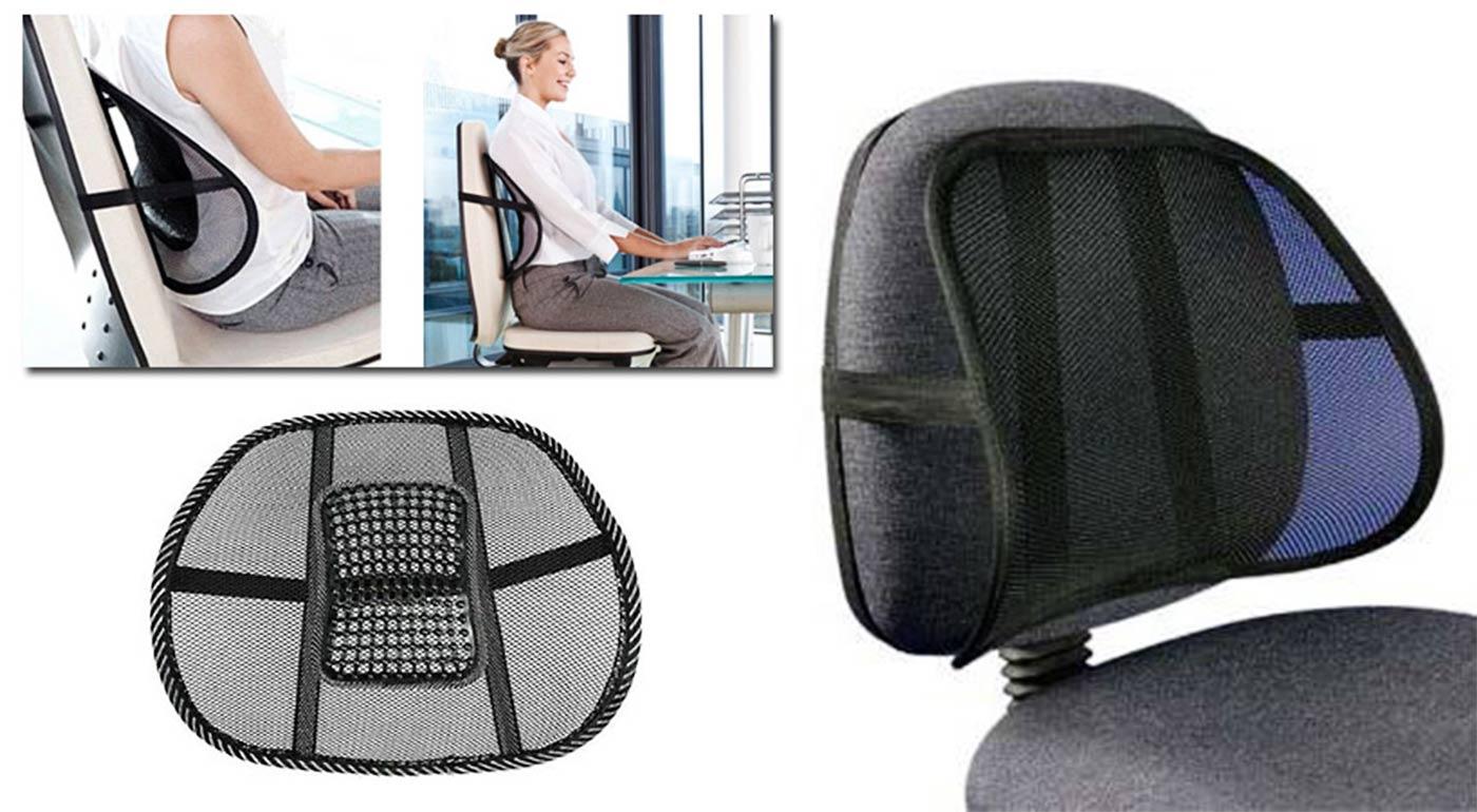 Príjemná masážna opierka chrbta pre komfortné sedenie