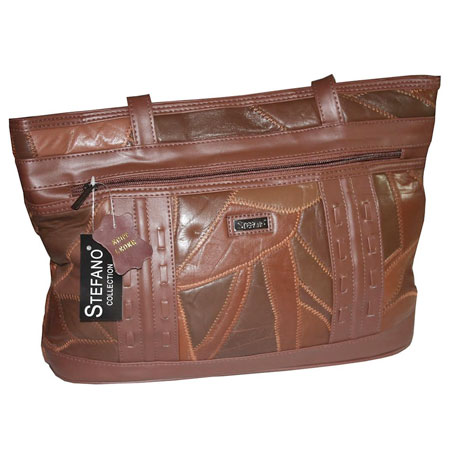 D2. Dámska kožená kabelka GUIDO BANINI - hnedá