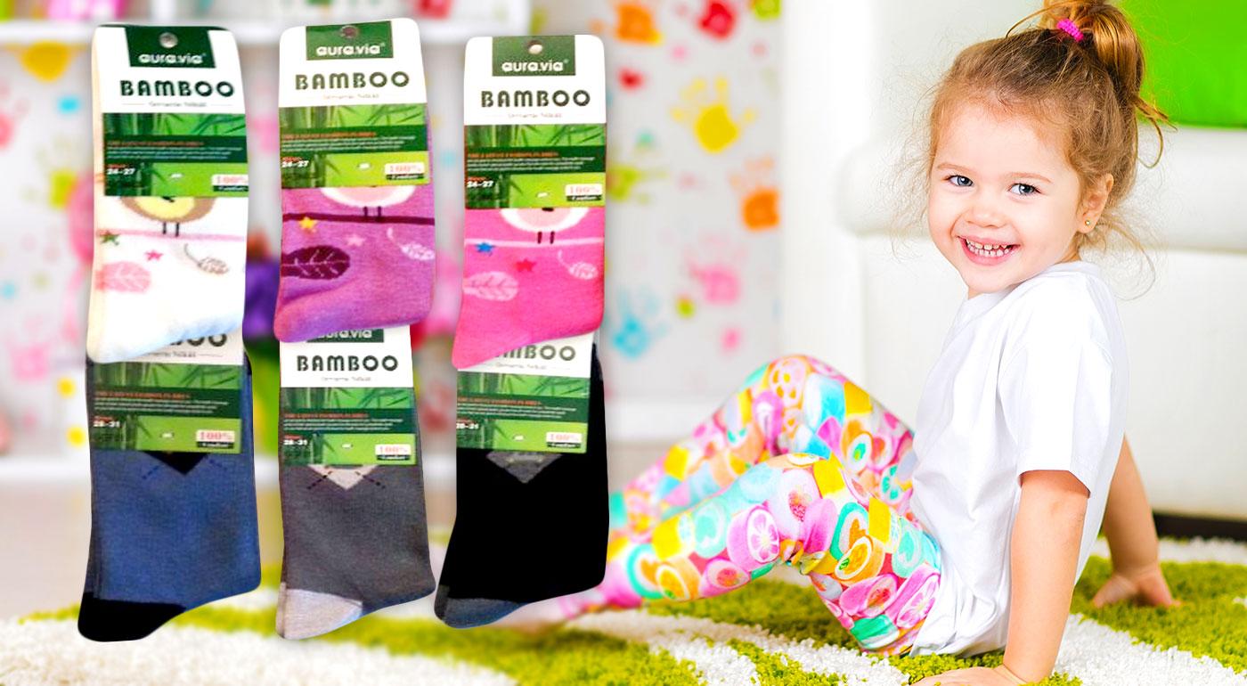 Detské ponožky z bambusového vlákna po 5 alebo 10 párov