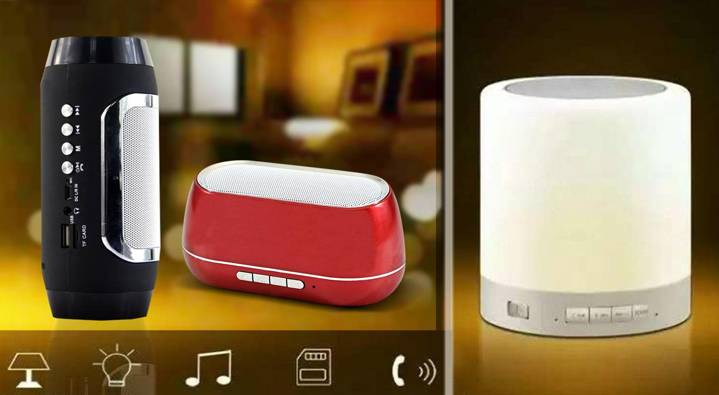 Štýlové Bluetooth reproduktory - na výber 4 druhy