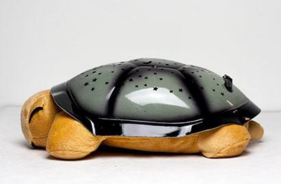 Hrajúca svietiaca plyšová korytnačka - hnedá