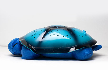 Hrajúca svietiaca plyšová korytnačka - modrá