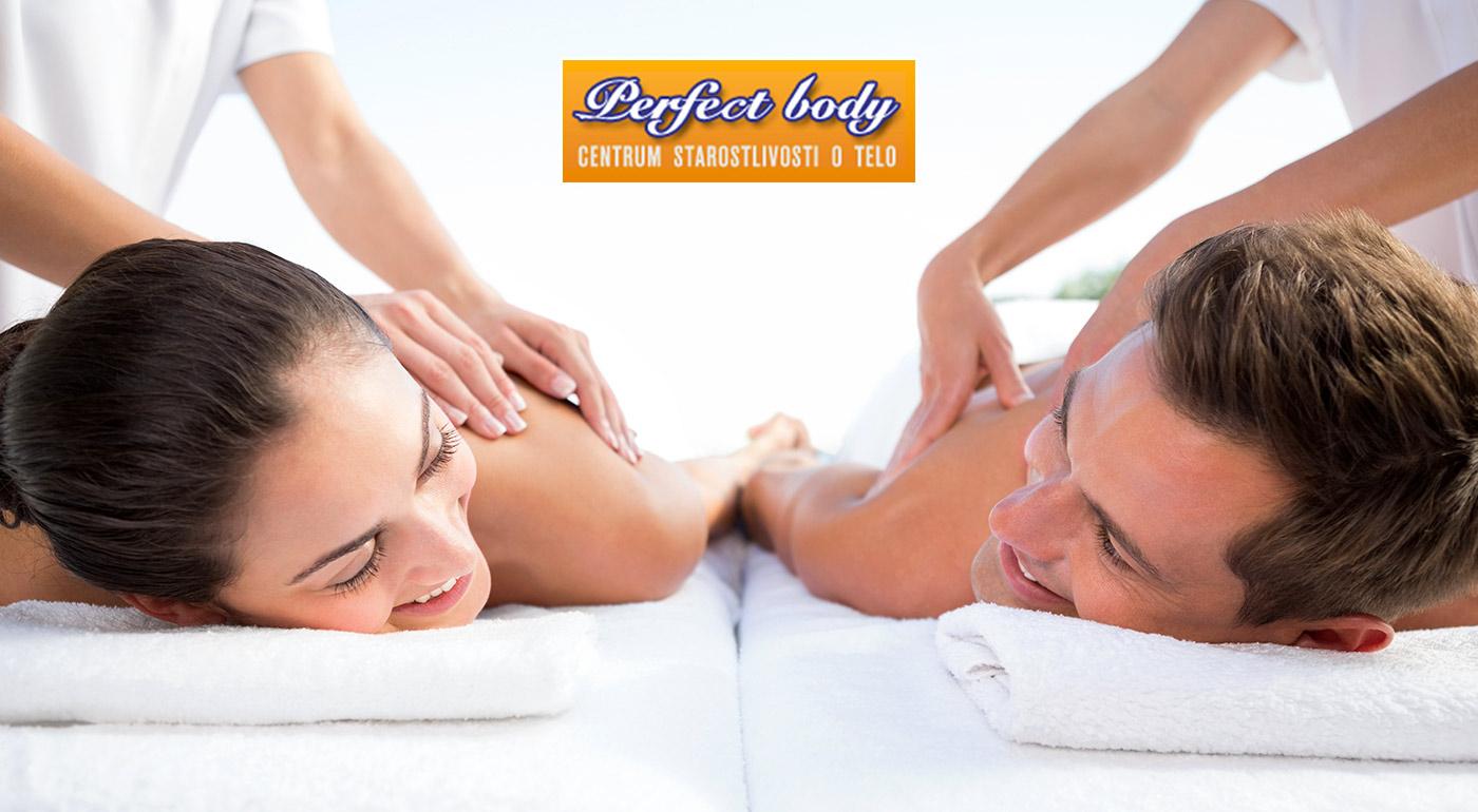 Uvoľňujúca masáž pre vás a vášho partnera v salóne Perfect Body