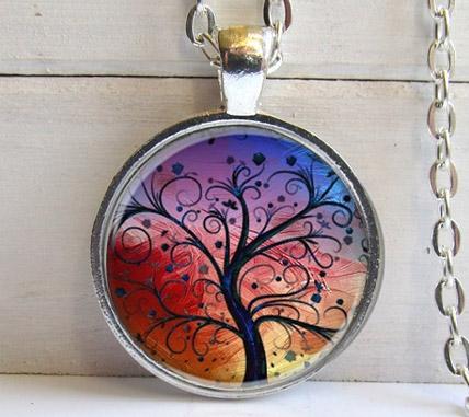 Retiazka s príveskom Strom života - varianta 3