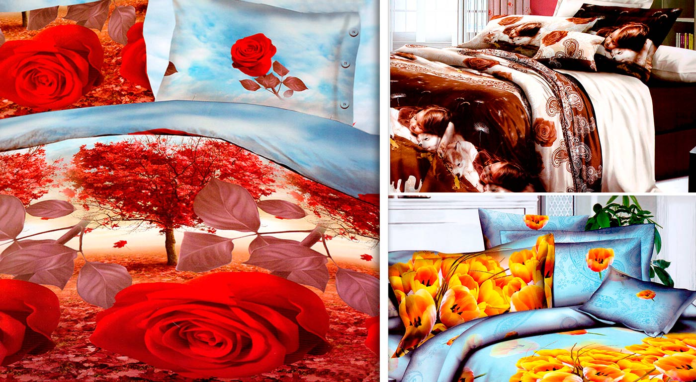Moderné 3D posteľné obliečky na jednolôžko - na výber až 7 vzorov