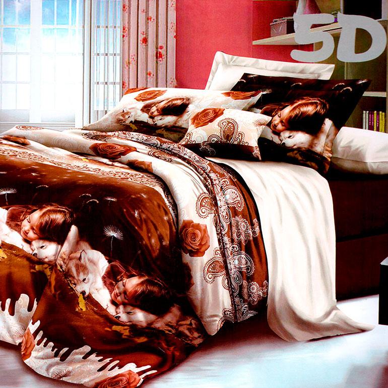 3D posteľné obliečky na jednolôžko -  Deti (obliečka na vankúš 70 x 90 cm a obliečka na paplón 140 x 200 cm)
