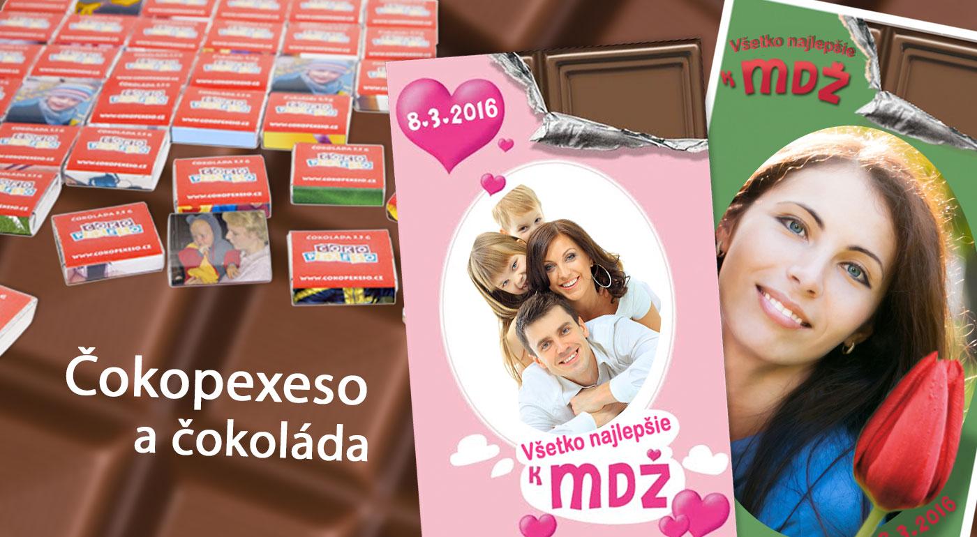 Originálny sladký darček na MDŽ - belgická čokoláda alebo 18-dielne čokopexeso s vlastnou fotografiou!