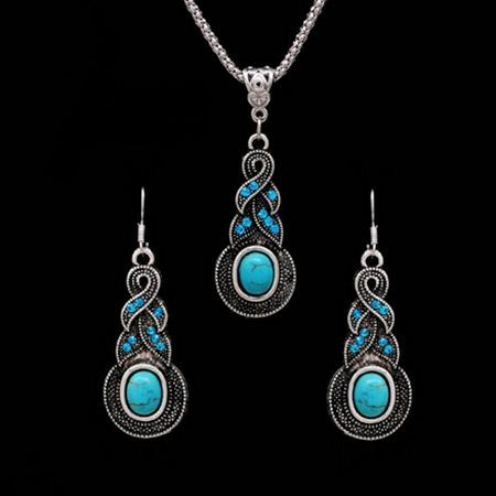 Set šperkov s modrými kameňmi