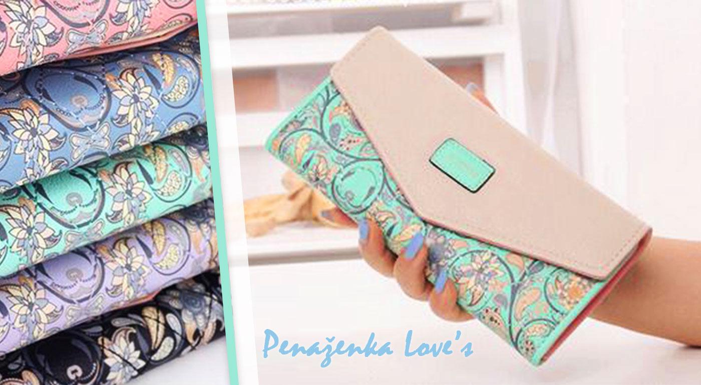 Kvalitná dámska peňaženka Love's - na výber až 5 farieb!