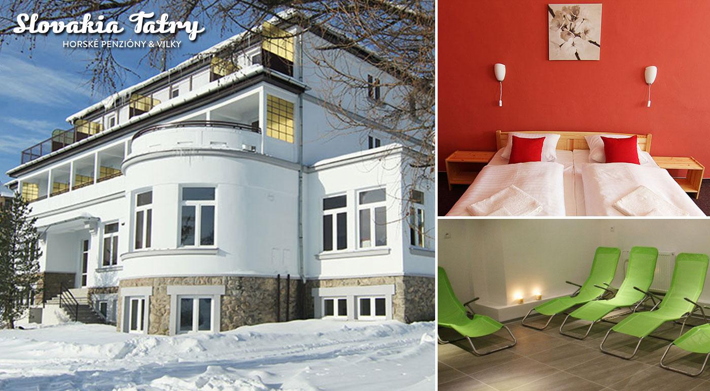 Vychutnajte si tú najkrajšiu dovolenku priamo v srdci Vysokých Tatier v Penzióne Poľana*** v centre Starého Smokovca