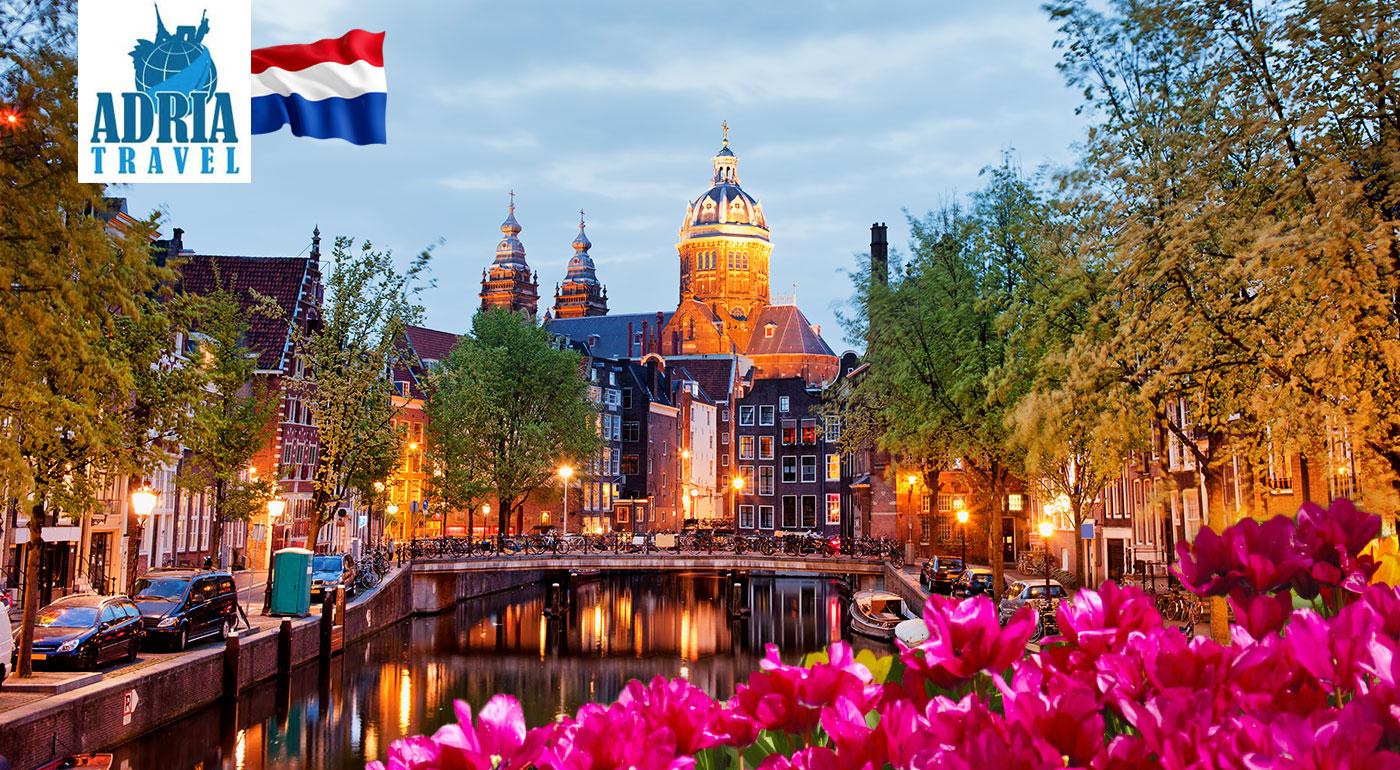 5-dňový poznávací zájazd do Amsterdamu, Bruggy, živého skanzenu Zaanse Schans a svetoznámej výstavy kvetov