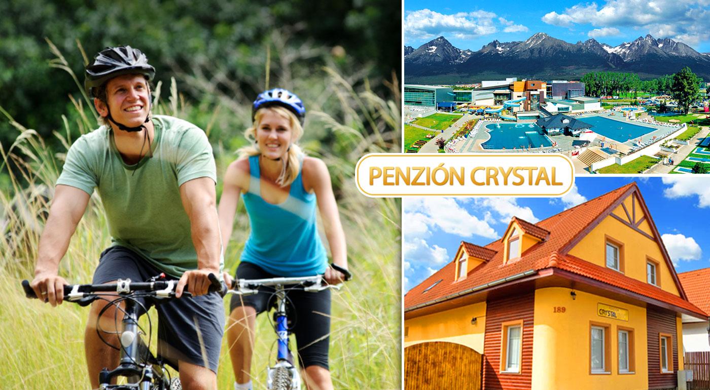 Penzión Crystal v Novej Lesnej - relax pre dvoch na 3 až 6 dní s požičaním bicyklov alebo lyží