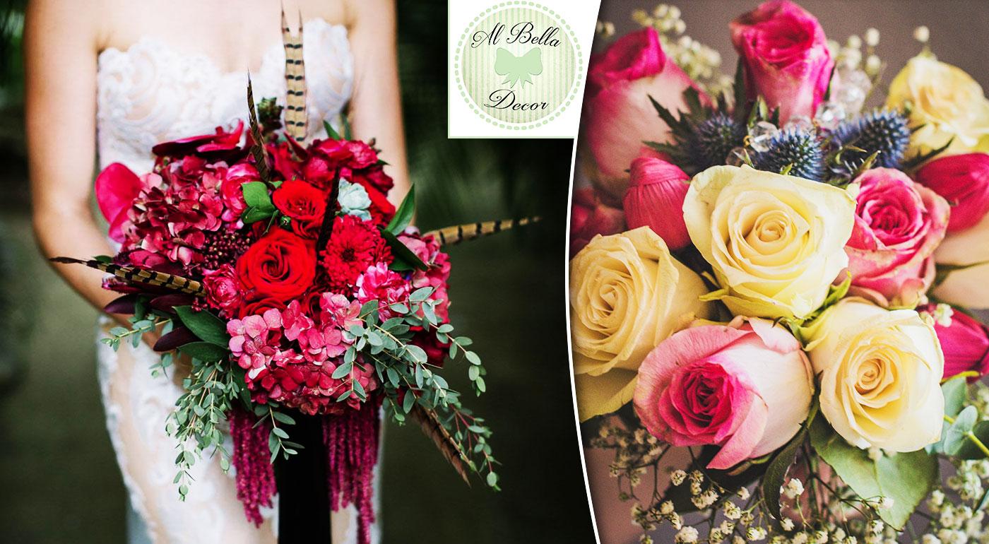 Originálna svadobná kytica z ruží, tulipánov alebo z rôznych kvetov. Kráľovná svadobných kytíc od Al Bella Decor!