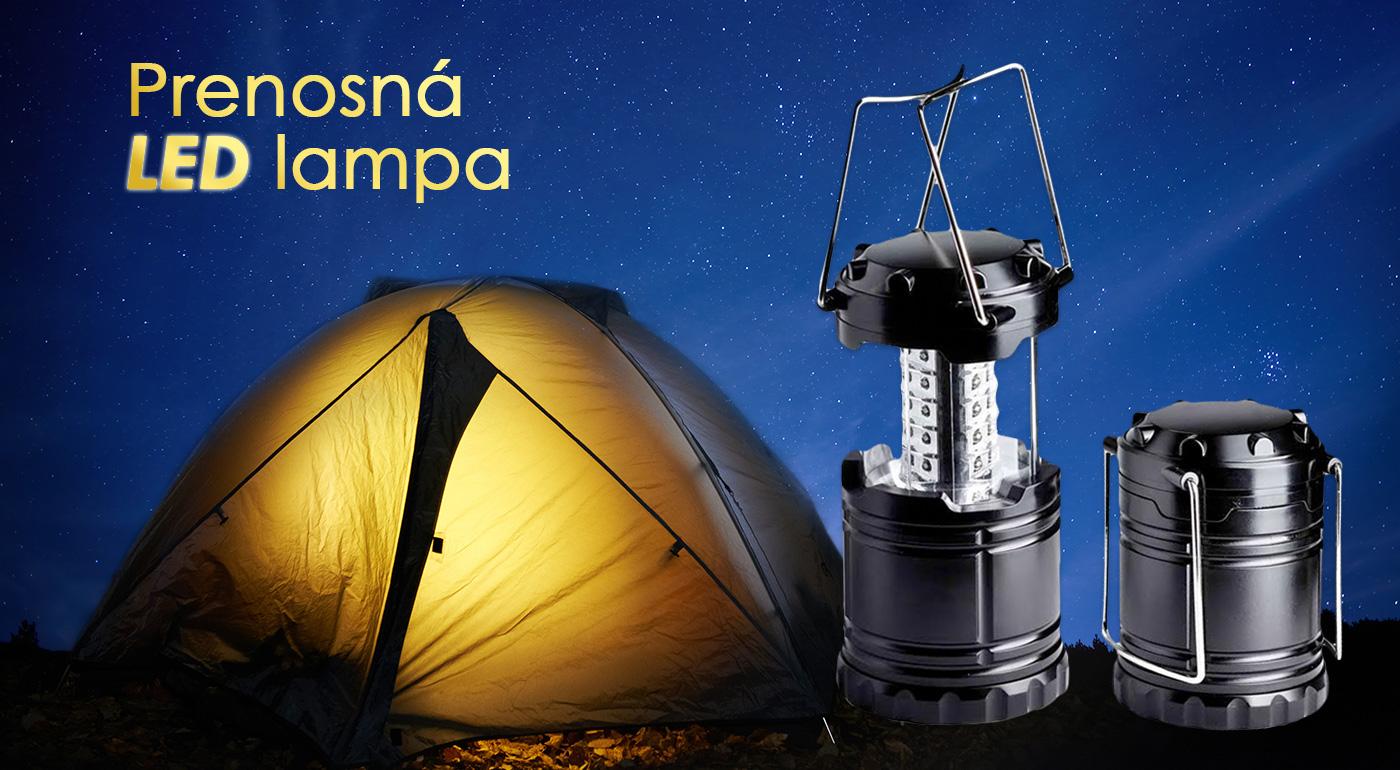 Prenosná LED lampa vhodná na využitie vonku či v domácnosti