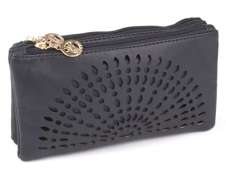 Listová kabelka Mandala - čierna