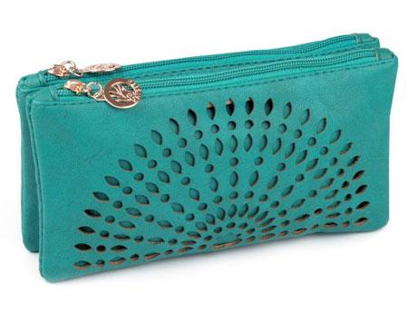 Listová kabelka Mandala - zeleno-modrá