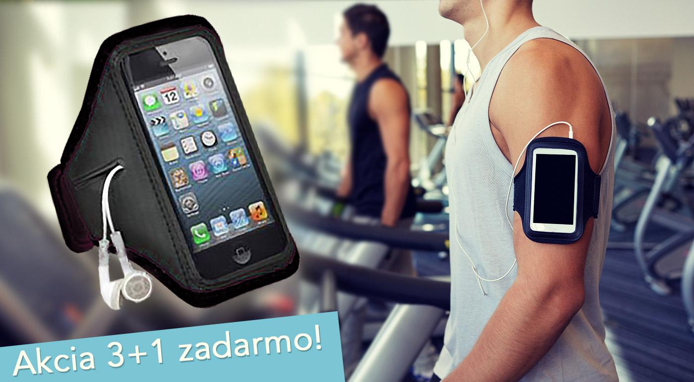 Puzdro na mobil alebo mp3 s priesvitným displejom na ovládanie