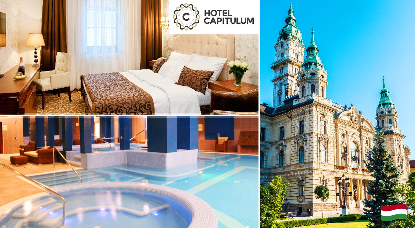 Wellness romantika pre pár v Hoteli Capitulum**** v srdci historického mesta Győr