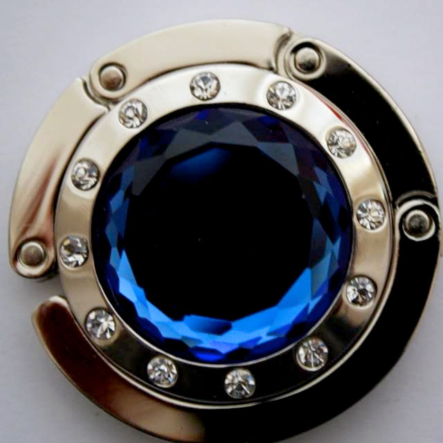 Držiak na kabelku - kameň modrý