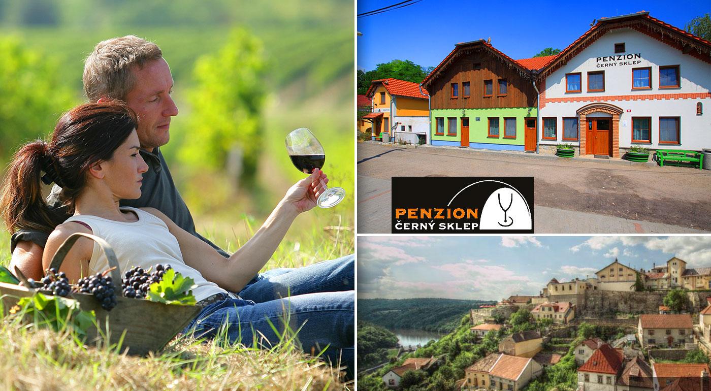 Trojdňový vinársky pobyt spojený s ochutnávkou vín pre dvojicu v Penzióne Černý sklep neďaleko Znojma