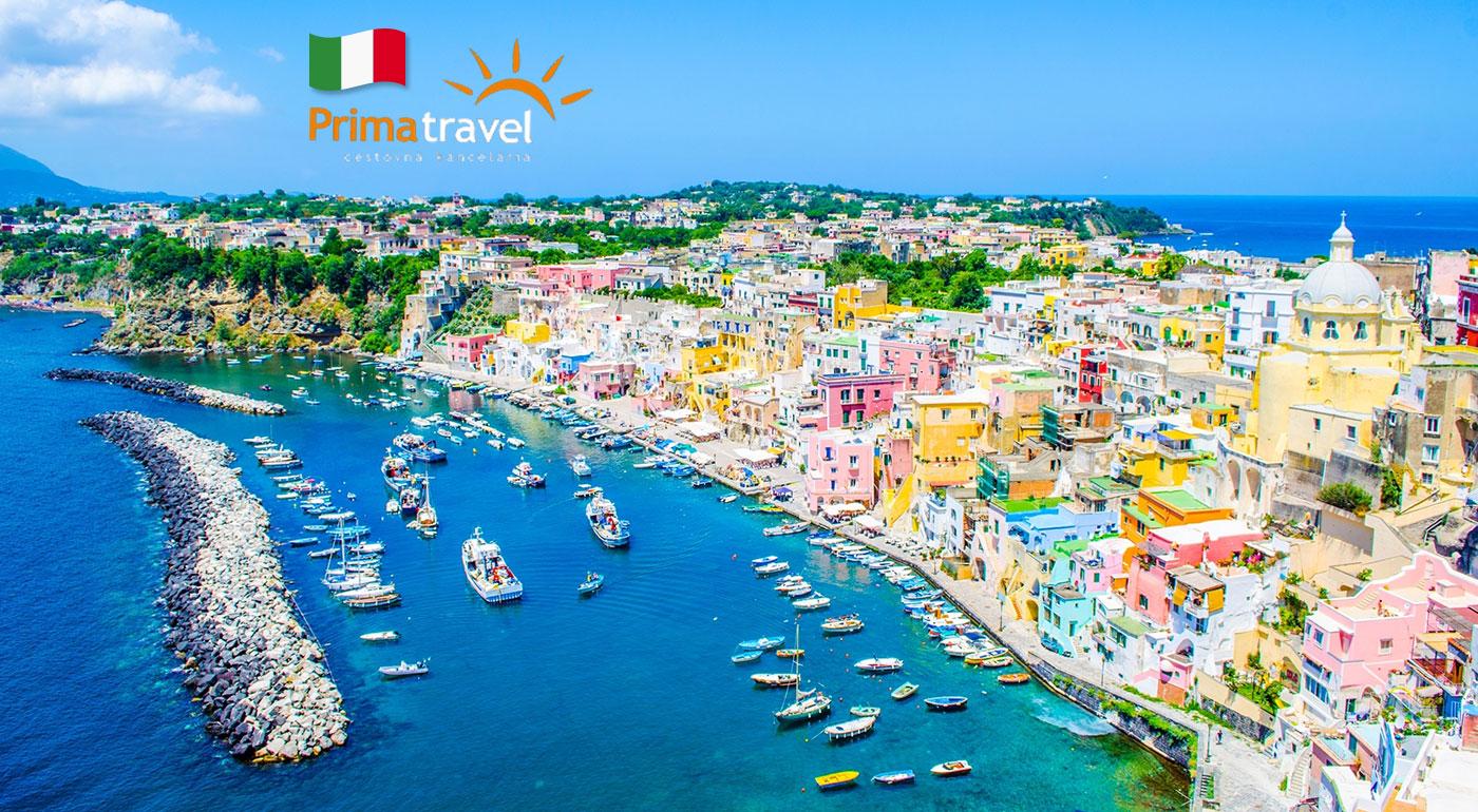 Ostrov Ischia, pobrežie Amalfi a ostrov Procida - krásy Talianska počas 5-dňového zájazdu s CK Prima Travel