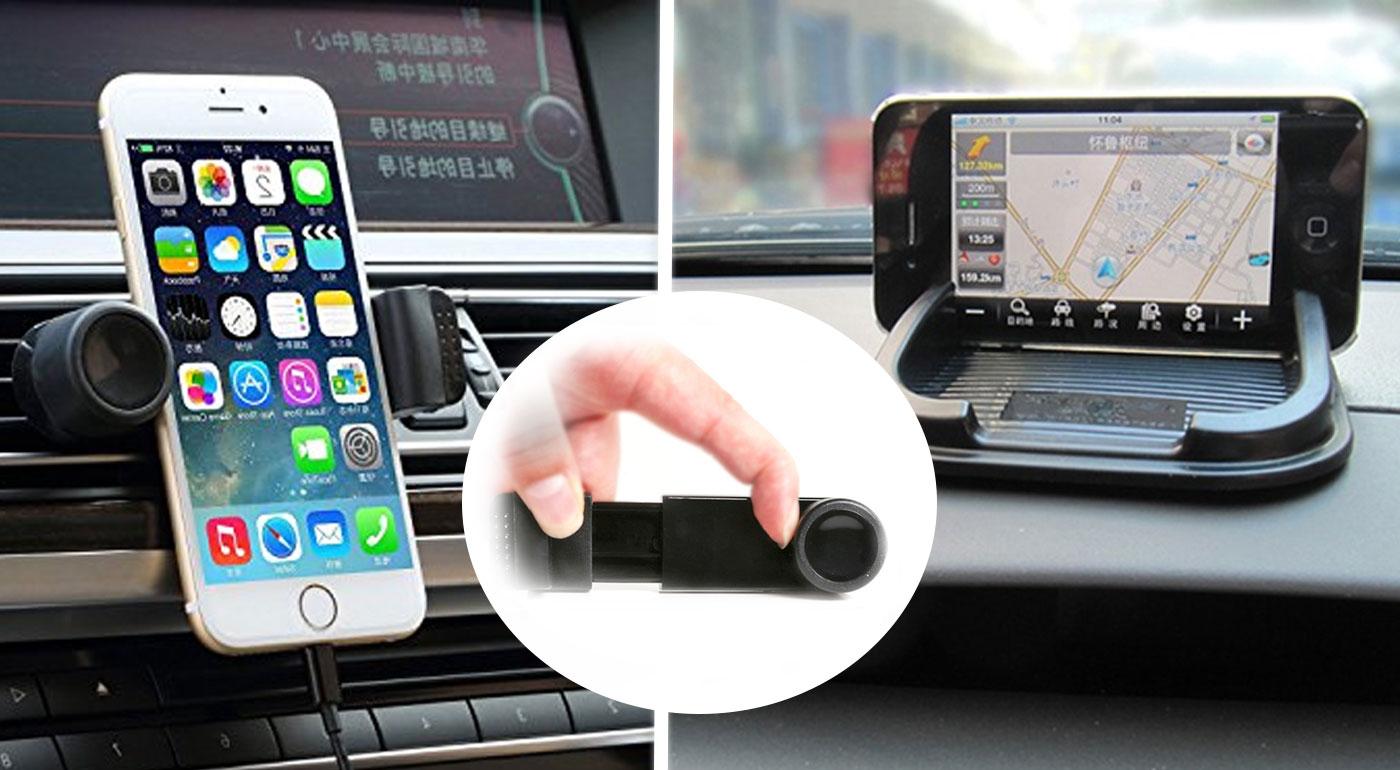 Univerzálny rotačný držiak na mobil alebo viacúčelová protišmyková podložka s držiakom na GPS navigáciu do auta
