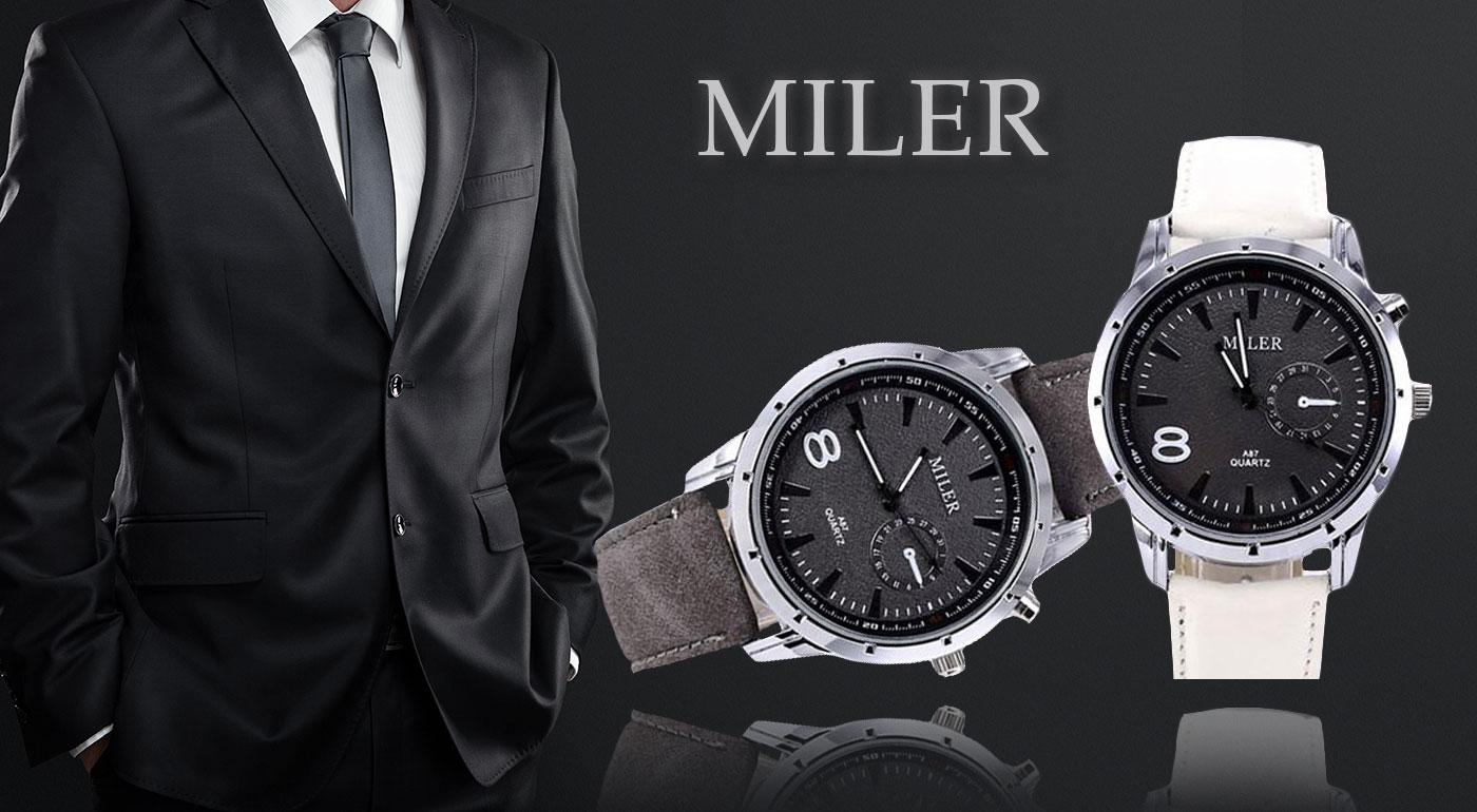 Pánske elegantno-športové hodinky značky Miler