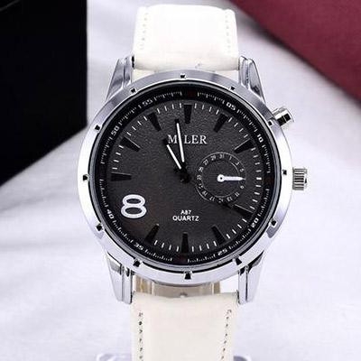 Pánske hodinky značky MILER - biele