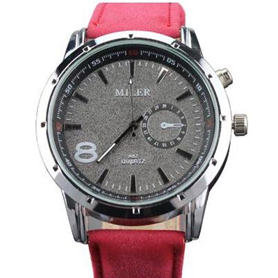 Pánske hodinky značky MILER - červené