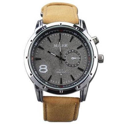 Pánske hodinky značky MILER - béžové