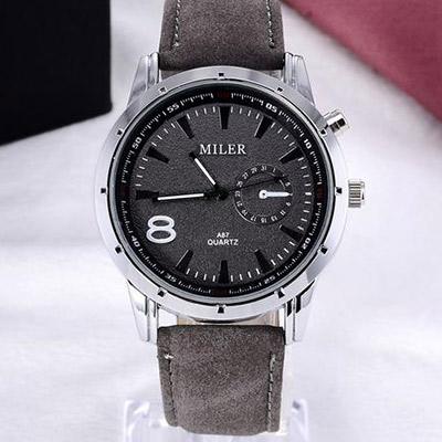 Pánske hodinky značky MILER - šedé