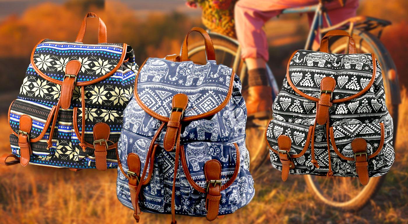 Originálny vintage ruksak - vyberte si z 5 zaujímavých vzorov