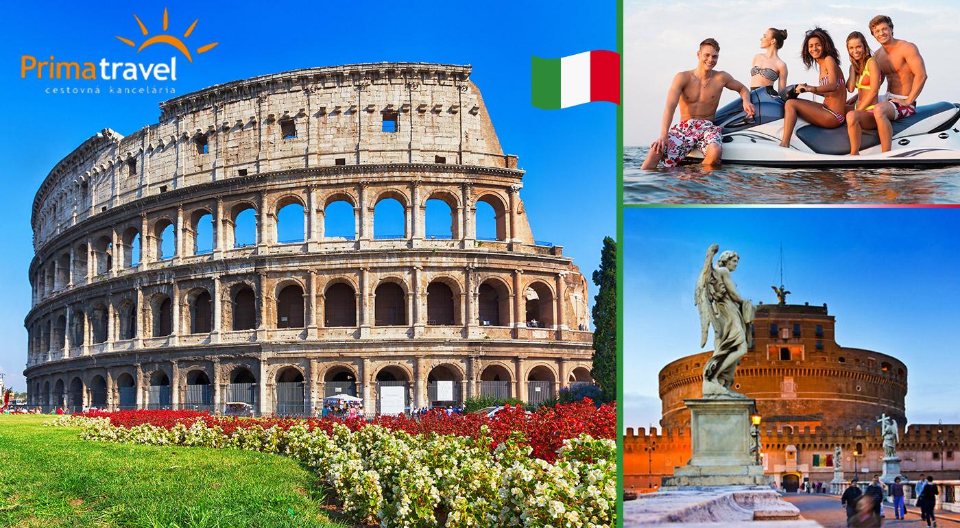 Päť prázdninových dní v Ríme s prehliadkou mesta a oddychom pri mori