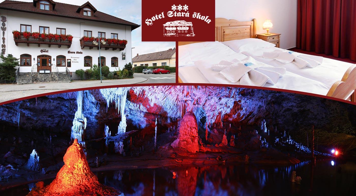 Príjemný letný pobyt v Moravskom krase v Hoteli Stará škola***
