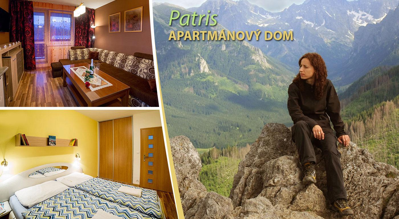 Komfortné ubytovanie v apartmánovom dome PATRIS v Tatrách počas jari alebo leta