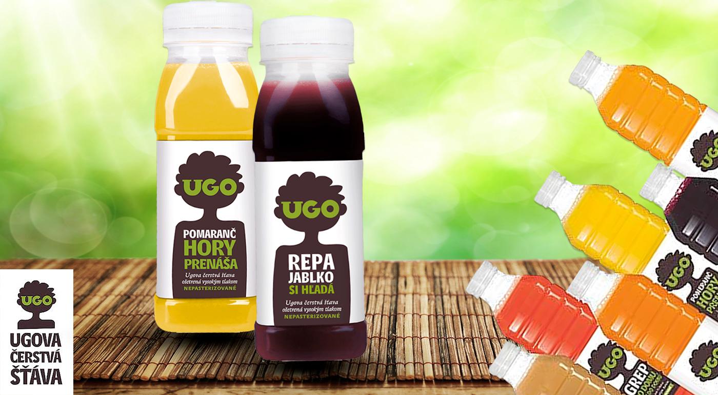 UGOva čerstvá šťava - 100% ovocné a zeleninové šťavy bez konzervantov, sladidiel a farbív