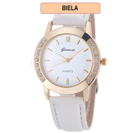 Dámske hodinky Geneva Diamond - biela farba