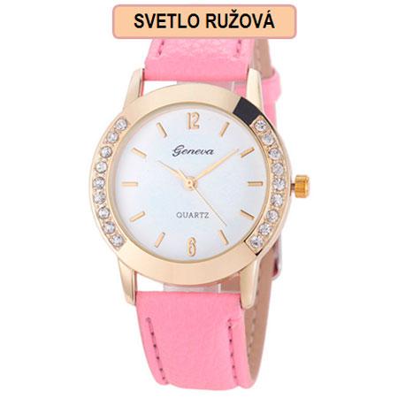 Dámske hodinky Geneva Diamond - svetlo ružová farba