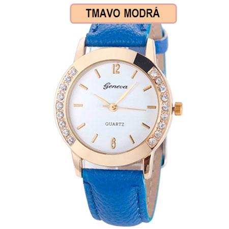 Dámske hodinky Geneva Diamond - tmavo modrá farba