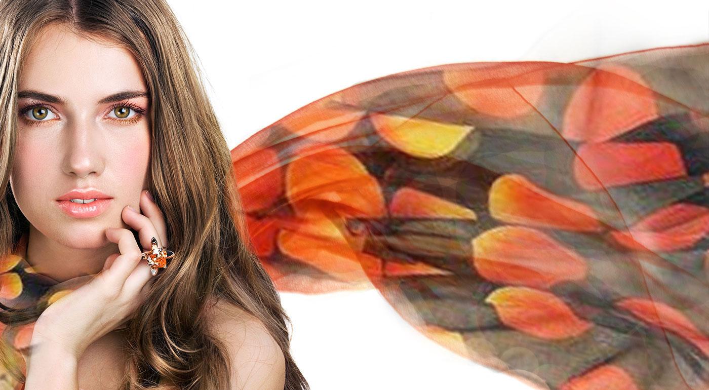 Moderné hodvábne jemné šatky - až 5 druhov na výber!
