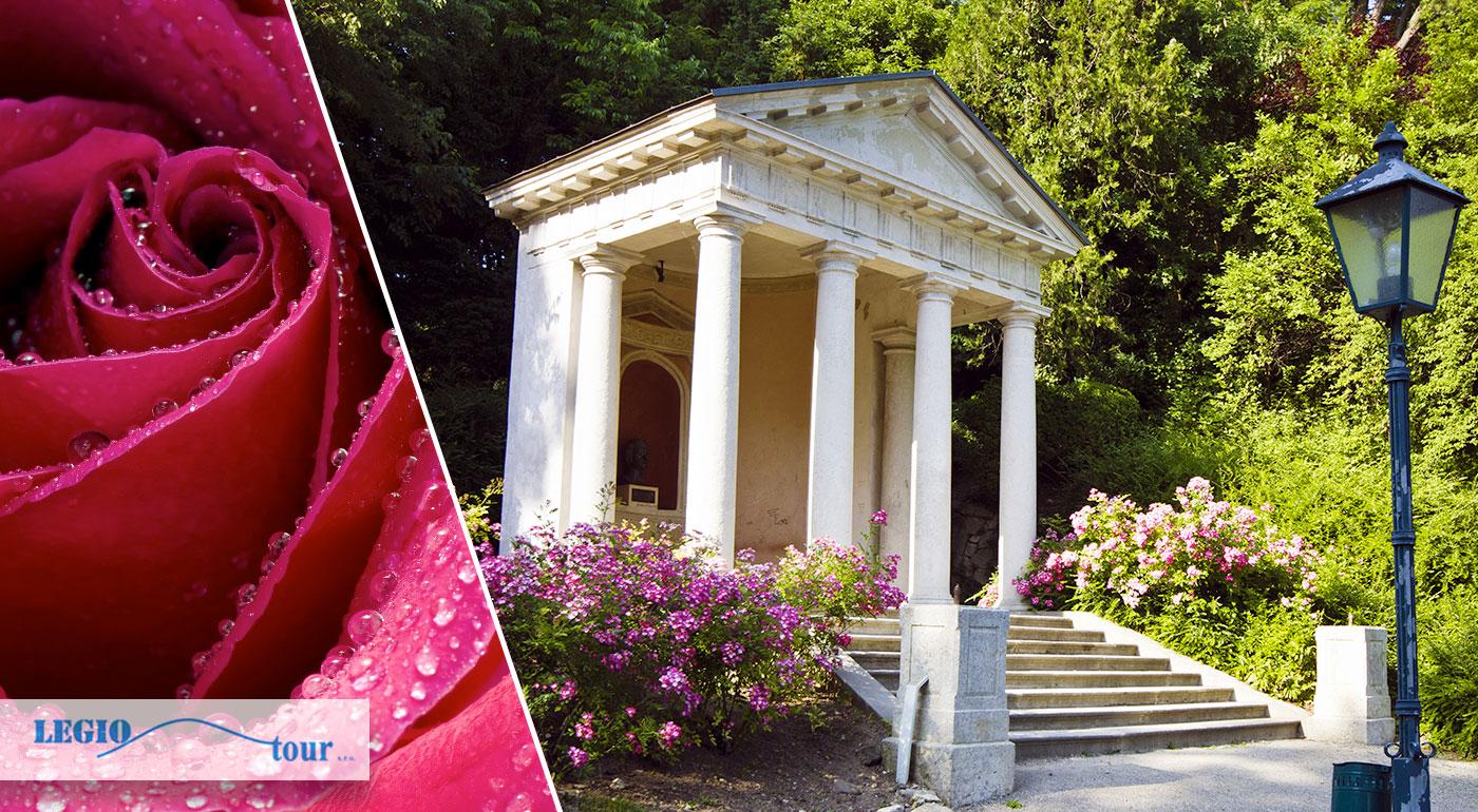 Navšteva festivalu DNI RUŽÍ v rakúskom mestečku Baden a park kláštora Heiligenkreuz