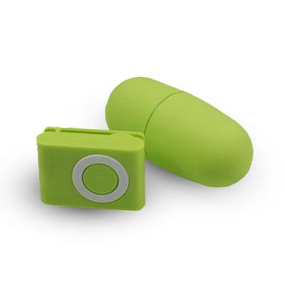 Vibračné vajíčko s diaľkovým ovládaním - zelené
