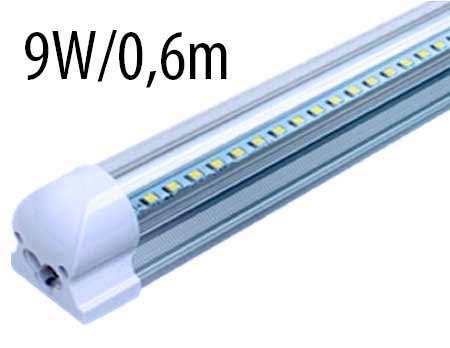 T8 LED trubicové svietidlo 9 W / 0,6 m, studená biela