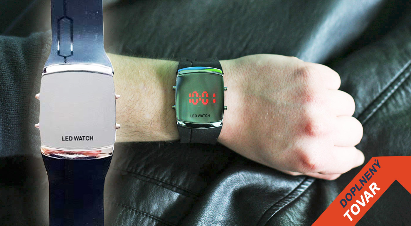 Vždy načas a štýlovo s digitálnymi LED hodinkami v čiernom prevedení