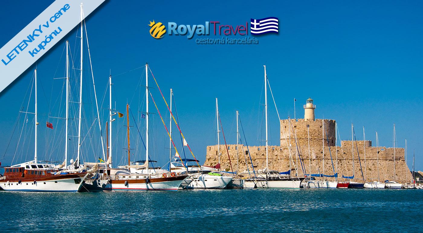 Dovolenka na ostrove Rodos na 8 dní vrátane ubytovania v hoteli, letenky, všetkých letiskových poplatkov, all inclusive alebo polpenziou!