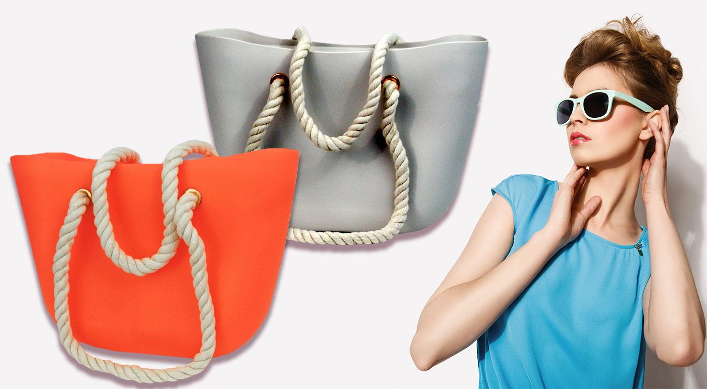 Módne dámske silikónové kabelky