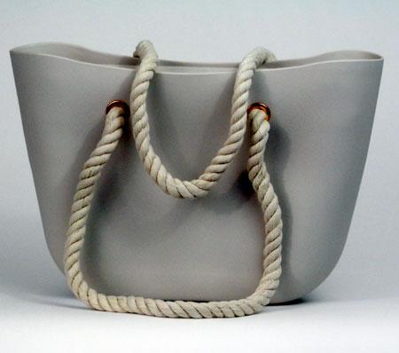 Dámska silikónová taška - šedá