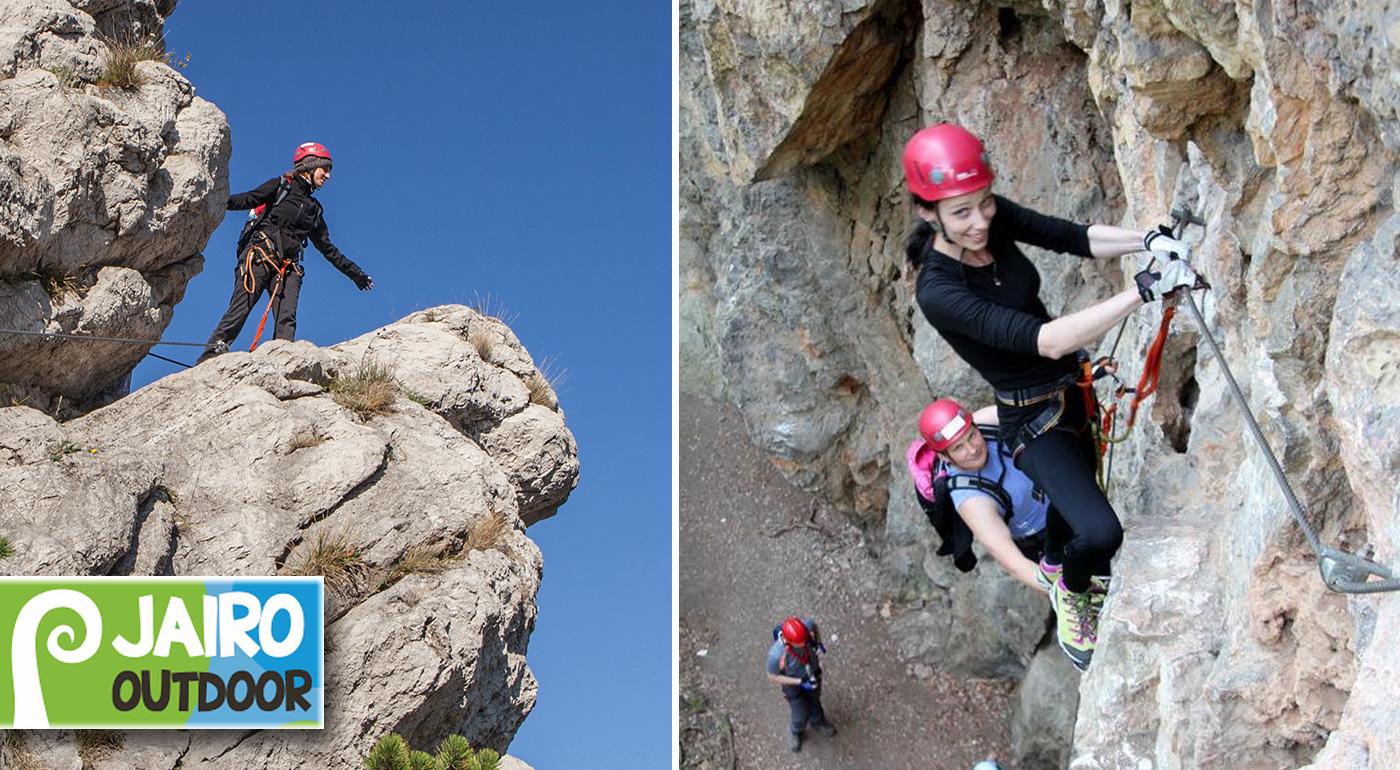 Kurz ferratového lezenia pre začiatočníkov v nádhernom prostredí prírodného parku Hohe Wand vrátane dopravy, výstroja a sprievodcu!